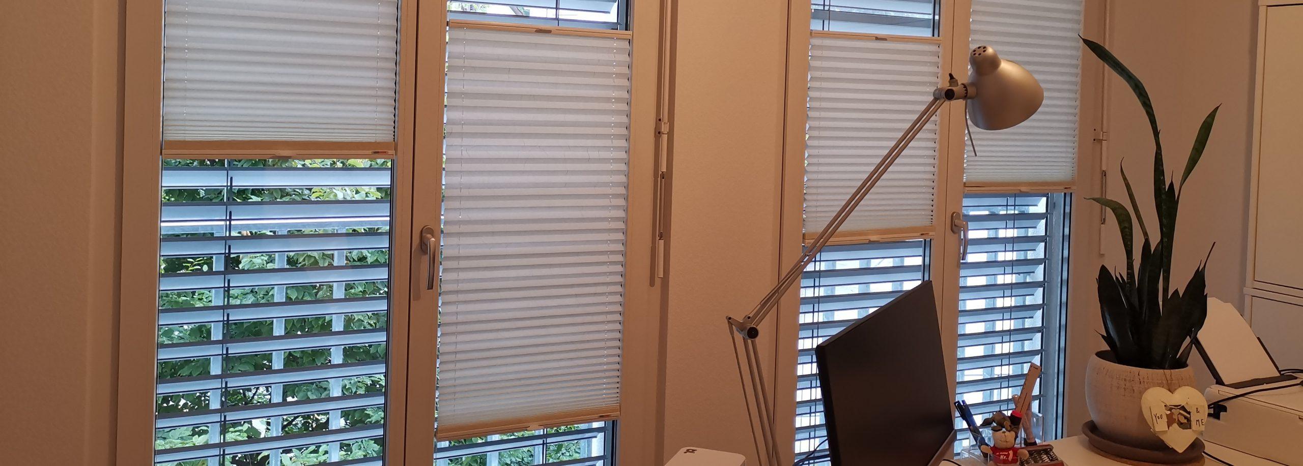 Plissee im Büro